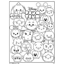 Tsum Tsum Coloring Pages Coloring Pages