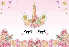 <b>Laeacco</b> 7x5FT Vinyl Backdrop Pink Unicorn Party Photography ...