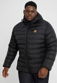 basic bubble jacket winter jacket black