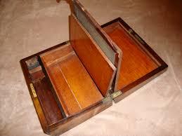 file interior of antique wooden lap desk jpg