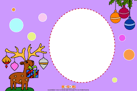 Christmas Photo Frames For Kids Reindeers And Gifts Printable Photo Frames For Kids Mocomi