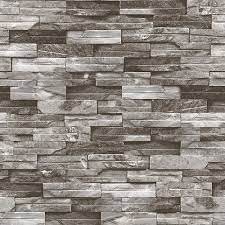 Chuvie 3D Grey Brick Design Wallpaper ...