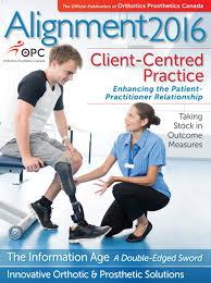 Sudbury Prosthetic And Orthotic Design Alignment Magazine 2016 By Orthotics Prosthetics Canada Opc
