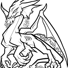 Realistic Dragon Coloring Pages For Adults With Water On To Print