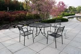 pieces metal patio furniture set