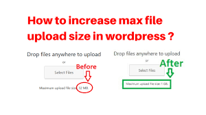 increase size how to increase max file upload size in wordpress jpg