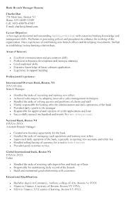 Bank Manager Resume Gorgeous Sample Resume Of Banking Professional And Banking Resume Examples