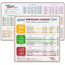 Pressure Cooker Cooking Chart Electric Pressure Cooker Cook Times Quick Reference Guide Compatible With Instant Pot And Instantpot Magnetic Cheat Sheet Magnet Set Decal