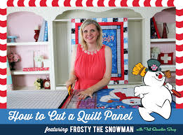 How to Cut a Quilt Panel featuring Frosty the Snowman with Fat ... & How to Cut a Quilt Panel featuring Frosty the Snowman with Fat Quarter Shop Adamdwight.com