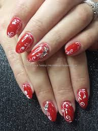 Eye Candy Nails & Training - Kiss in paris red gel polish with ...