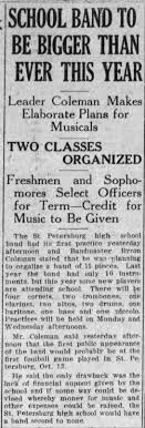 Oct 2, 1917 - Byron Coleman SPHS Band Master - Newspapers.com