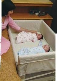 Twins Baby Bedroom Furniture Arms Reach Co Sleeper Twin Cot What A Good  Idea Definitely Not