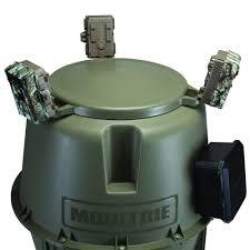 moultrie 30 gallon easy lock tripod deer feeder moultrie easy lock tripod deer feeder cameras mounted