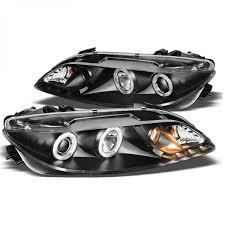 mazda 6 2006 black. spyder 20032006 mazda 6 lighttubedrl led projector headlights for 2006 black