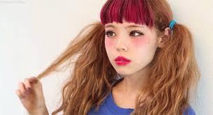 extreme close up featuring traditional anese makeup photojournalisman black dress red eye makeup in harajuku monday