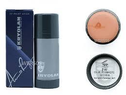 25g kryolan tv paint stick se theatre art makeup foundation matte cover 2w