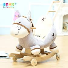 rocking horse for baby al rocking horse girl solid wood rocking chair baby toy small wooden rocking horse for baby