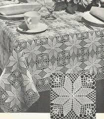 Crochet Tablecloth Pattern Classy PDF Crochet Tablecloth Pattern Small Square Or Large Rectangle Etsy