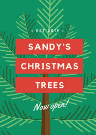 Green Christmas Tree Sale Opening Flyer - Templates by Canva
