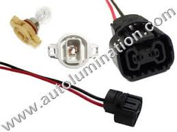automotive car truck light bulb connectors sockets wiring Wiring Pigtails For Automotive 5202 h16 h16w 9009 psx24w psy24w 2504 5201 5301 5202 8l8z13n021a led drl fog light bulb Pigtail Wiring Harness Repair