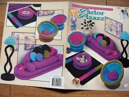1994 crochet pattern fashion doll barbie furniture parlor pizazz zoom barbie doll furniture patterns