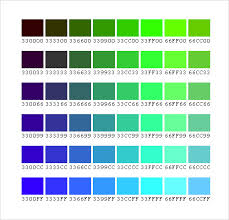 Free Pantone Color Chart Pdf Sample Color Chart Template 25 Free Documents In Pdf Word