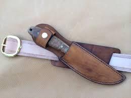custom leather knife sheath 8 overall 5 f