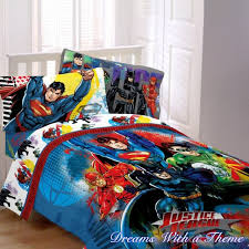 justice league dc comic heros superman batman twin single size comforter set