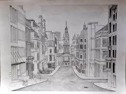 perspective drawings of buildings. Nice, More Artistic Street Perspective Drawings Of Buildings S