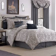 Silver Grey Bedroom Bedroom Soft Grey Damask Duvet Cover With Black Line Accent Plus