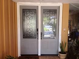 ClearView retractable screens on double doors.