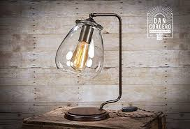 vintage bronze desk lamp. Contemporary Desk Glass Shade Edison Bulb Table Lamp  Bronze  Desk Vintage Bulb Oil And T
