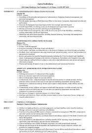 Administrative Operations Manager Resume Samples Velvet Jobs