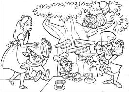 Small Picture Alice In Wonderland Coloring Page Coloring Home