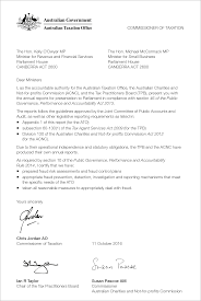 Letters Of Transmittal Letter Of Transmittal Ato Annual Report 2015 16