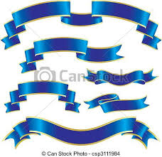 Anniversary Ribbon Set Of Blue Ribbons