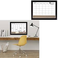 details about whiteboard magnetic dry erase calendar board cork wood frame wall decor marker