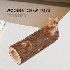 cute pet hamsters pipe shape wood chew toys for chinchillas guinea pigs and other small pets high quality pet supplies pet supplies nearby from