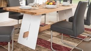 ALADIN Tisch 180x95 cm in Eiche Natur und weiß