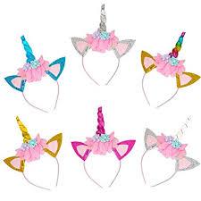6 Unicorn Headbands, Unicorn Party Favors for Girls ... - Amazon.com