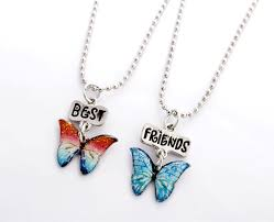 erfly best friends forever necklaces