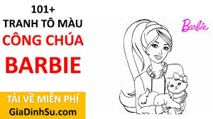 MIỄN PHÍ] tải 101+ tranh tô màu công chúa Barbie cho bé - Búp bê Barbie -  tại Giadinhsu.com - YouTube