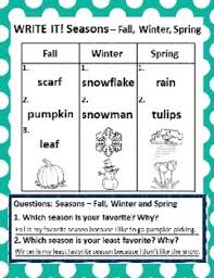 4 Seasons Chart Set Of 10 The Four 4 Seasons 10 Chart Graphing Activities And Answer Keys