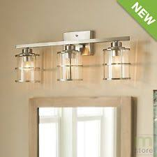 vanity lighting for bathroom. Bathroom Vanity 3 Light Fixture Brushed Nickel Cage Wall Lighting Allen + Roth $103 For
