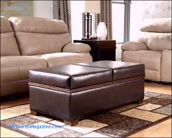 size of ottomans tray top brown leather storage ottoman coffee table double sided for