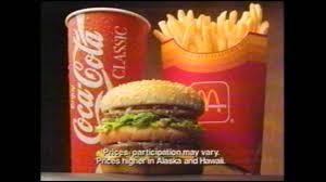 mcdonalds supersize meal. Simple Meal McDonaldu0027s Super Size 1994 Commercial Inside Mcdonalds Supersize Meal E
