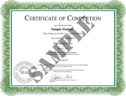 parenting certificate templates parenting class certificate of completion