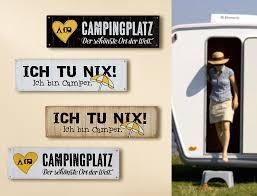 1 X Schild Weisheit Camping Weiß Spruch Campingplatz Der Schönste