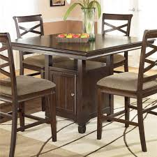 ashley furniture hayley contemporary square counter height pedestal table with storage ahfa pub table dealer locator