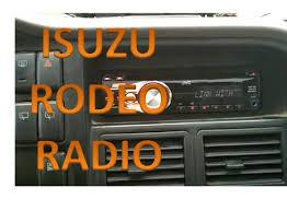 isuzu rodeo radio installation isuzu rodeo radio installation